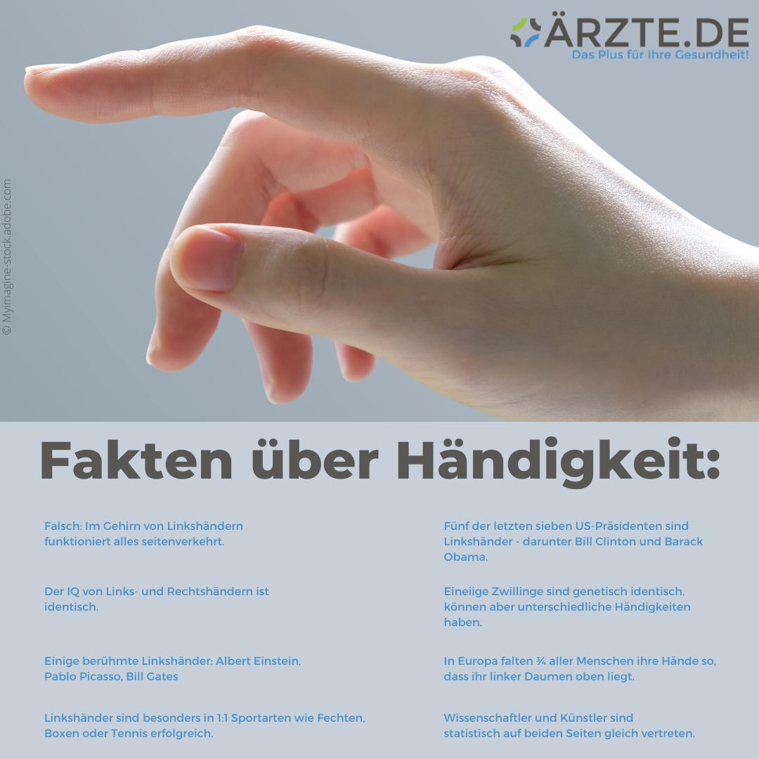 Fakten über Händigkeit