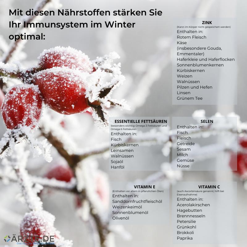 Nährstoffe im Winter