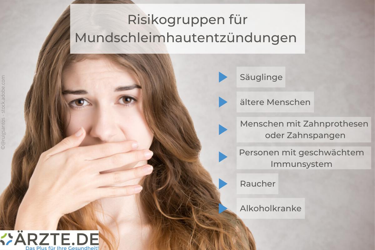 Risikogruppen bei Mundschleimhautentzündungen