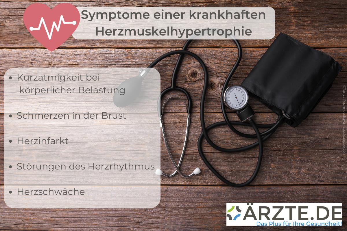 Symptome einer krankhaften Hypertrophie