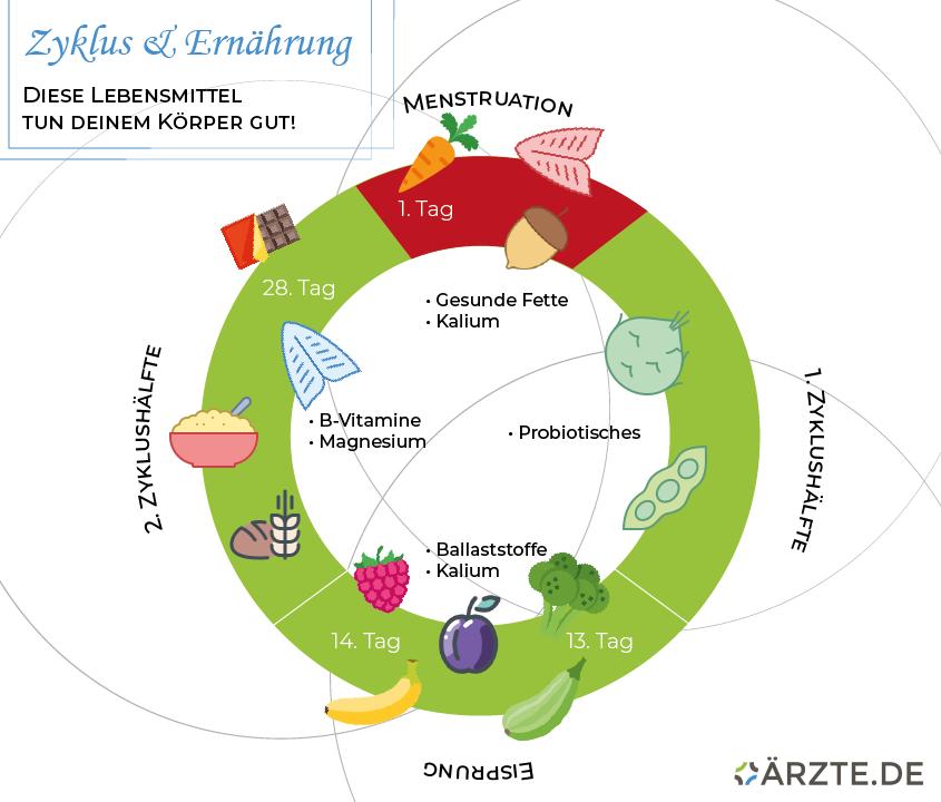Ernährung mit dem Zyklus
