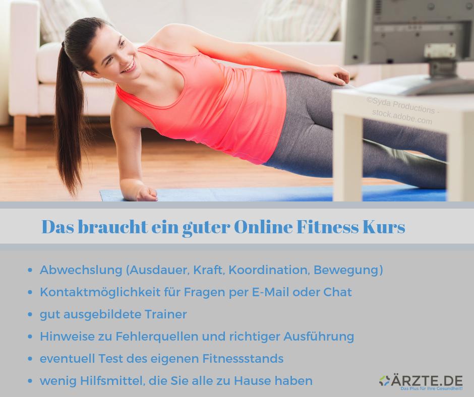 Kriterien Online Fitness Kurse