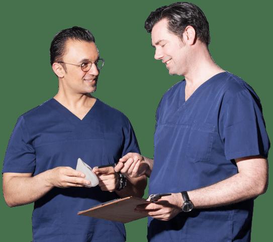 Portrait Schönheitschirurgen Dr Boorboor und Dr Kerpen