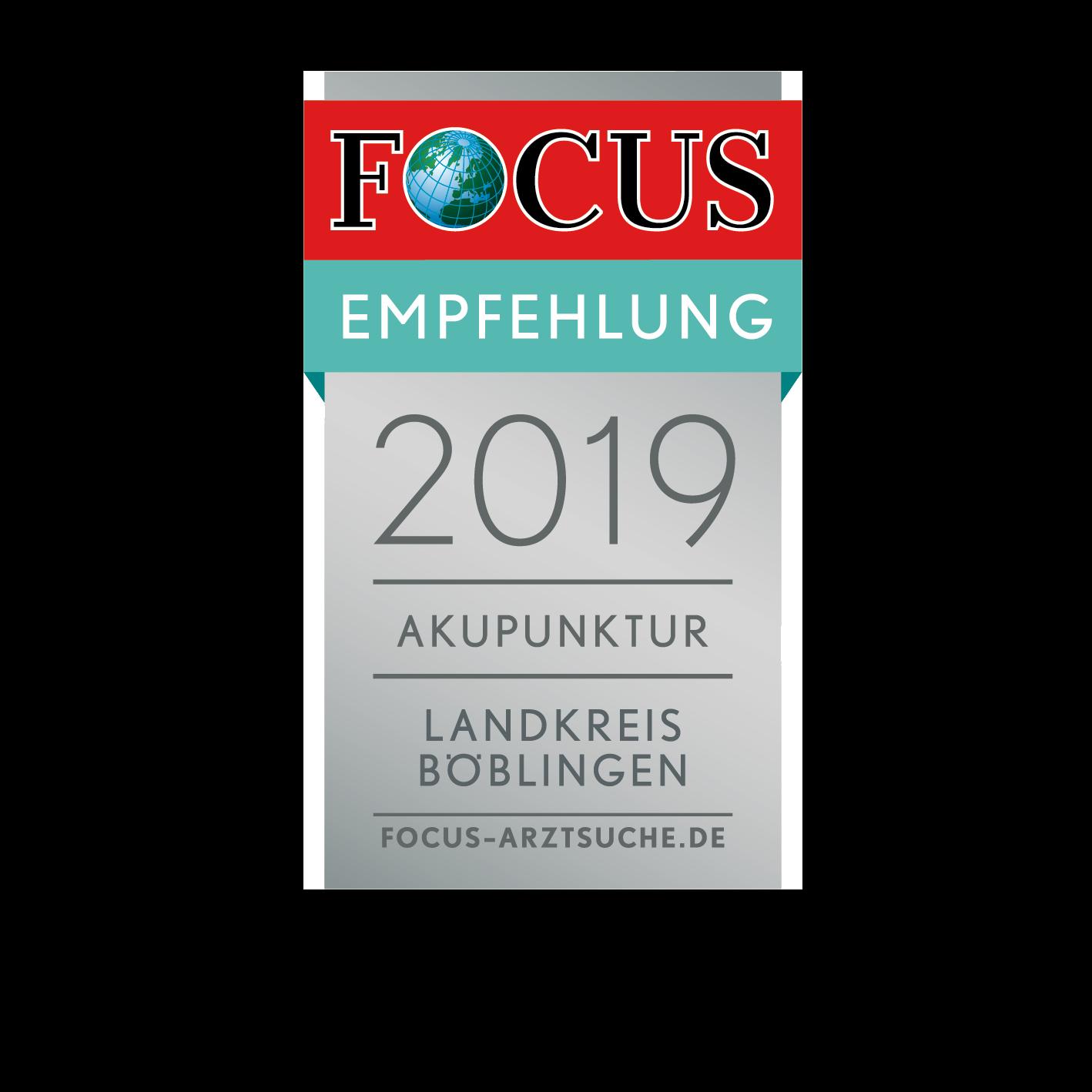 Dr. Ivo Breitenbacher Böblingen Focus Regionalsiegel Akupunktur Landkreis Böblingen