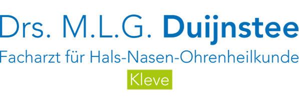 Praxislogo M.L.G. Duijnstee HNO Arzt Kleve