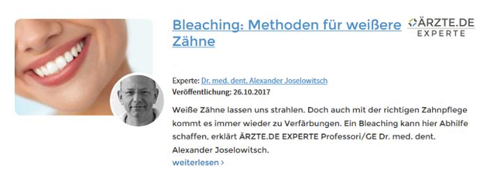 Alexander Joselowitsch Berlin Bleaching