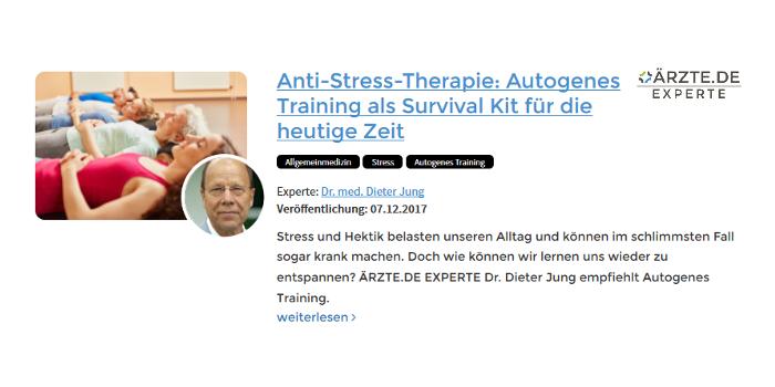 Dr. Dieter Jung Heidelberg Autogenes Training