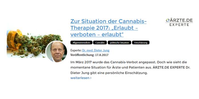 Dr. Dieter Jung Heidelberg Cannabis Medizin Verordnung