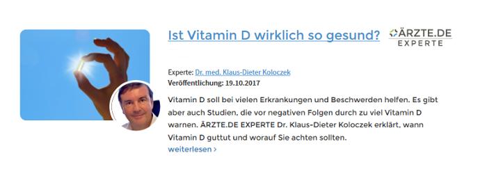 Klaus-Dieter Koloczek Neu-Anspach Vitamin D