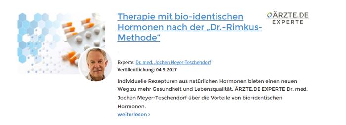 Jochen Meyer-Teschendorf Mühlheim an der Ruhr bioidentische Hormone