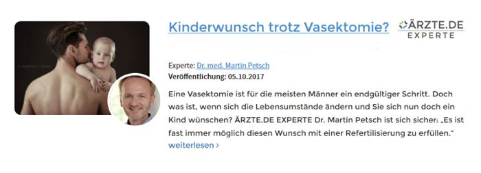 Martin Petsch Düsseldorf Refertilisierung
