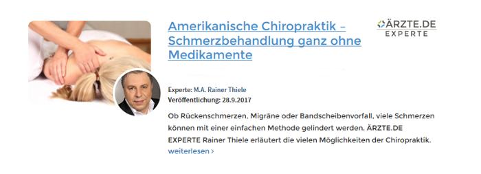 Rainer Thiele München Amerikanische Chiroporaktik