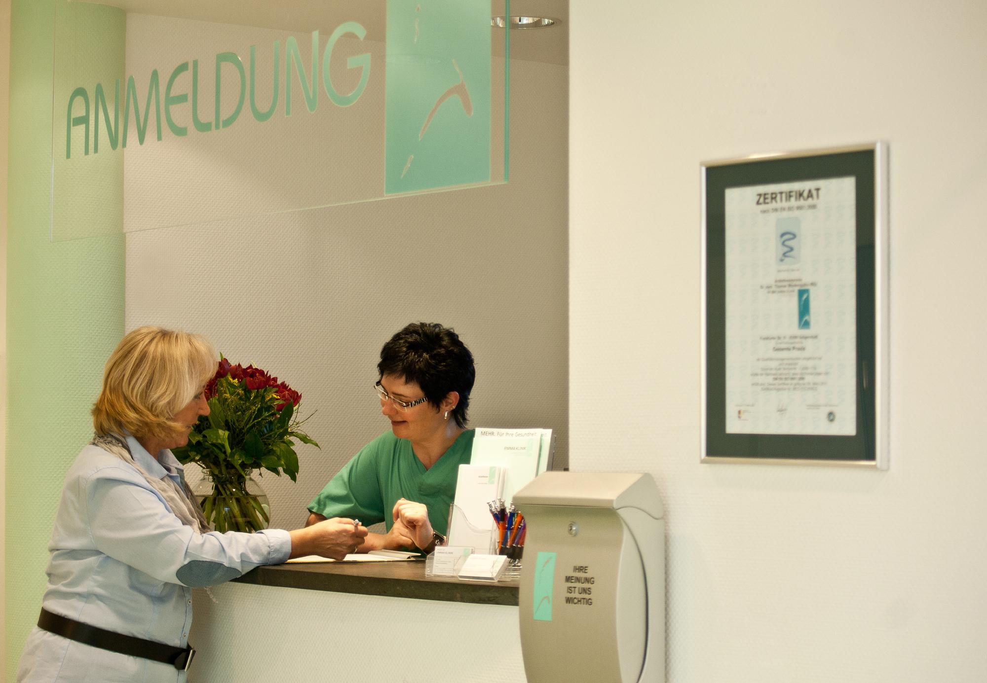 Anmeldung Anästhesie Emma Klinik Seligenstadt