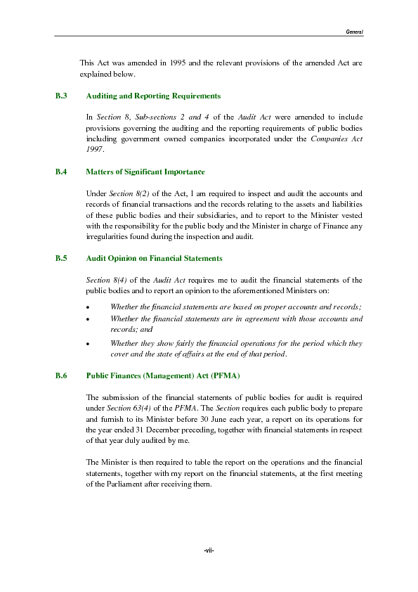 Report of the Auditor-General Part IV 2016 on the Accounts of Public