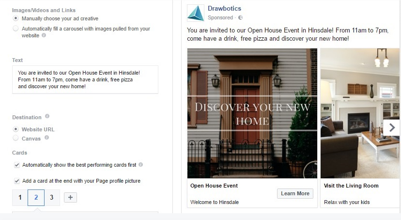 Open House ad on Facebook for Real Estate