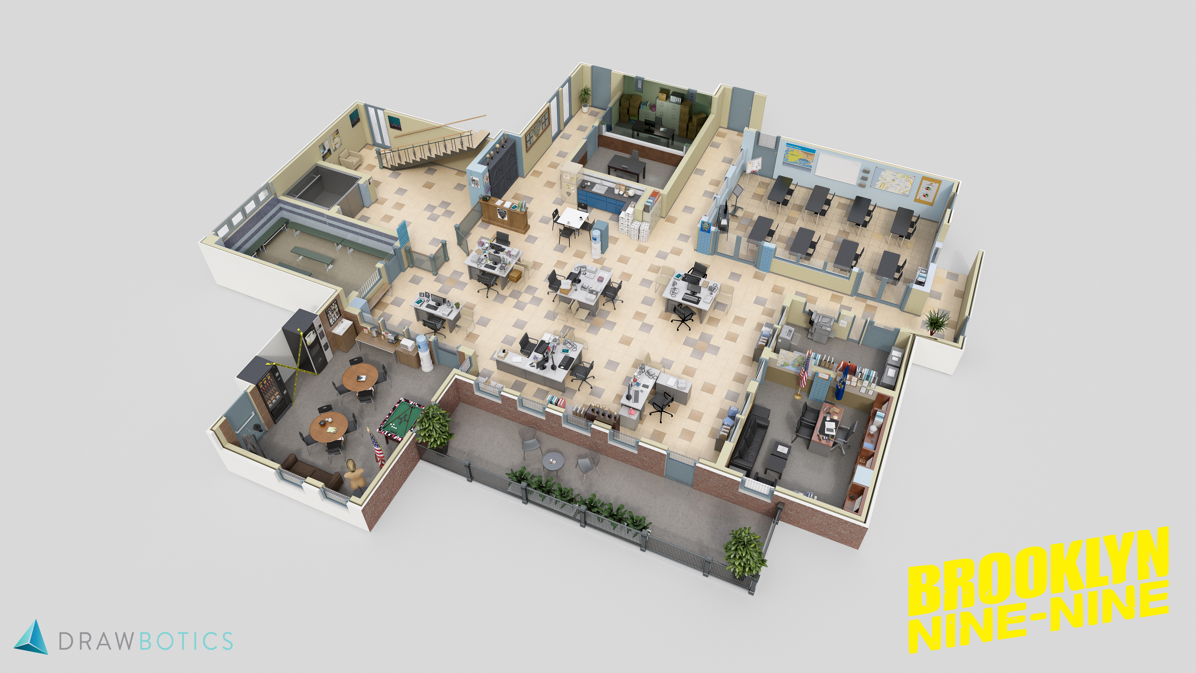 the office floor plan. 4) Brooklyn Nine-Nine. While Creating This Floor Plan The Office