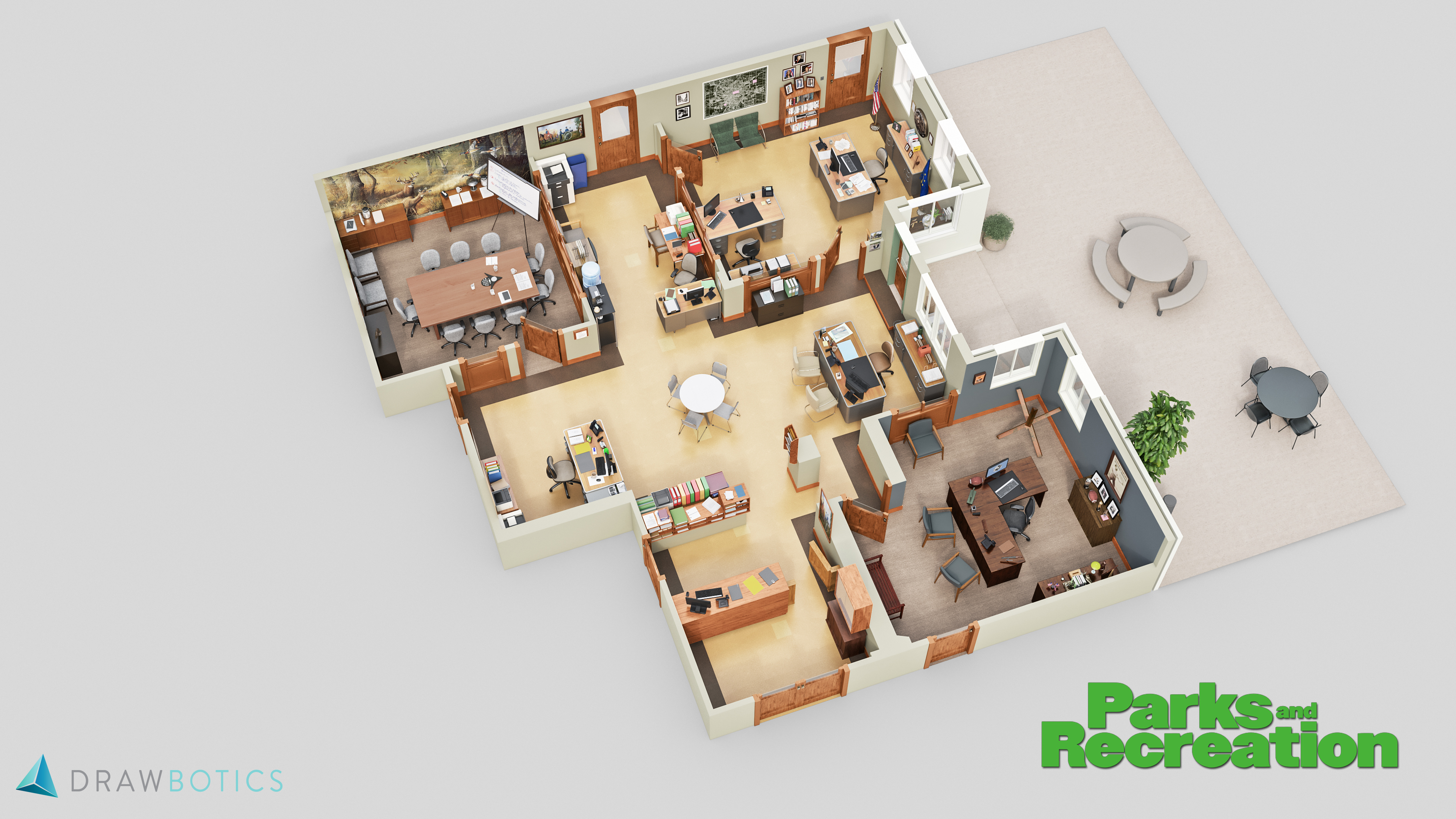 Floor Layout Famous Tv Shows Brought To Life With 3d Plans Drawbotics
