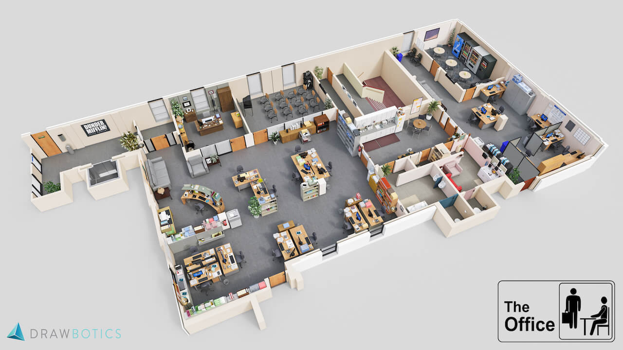 Famous tv shows brought to life with 3d plans drawbotics 3d planner