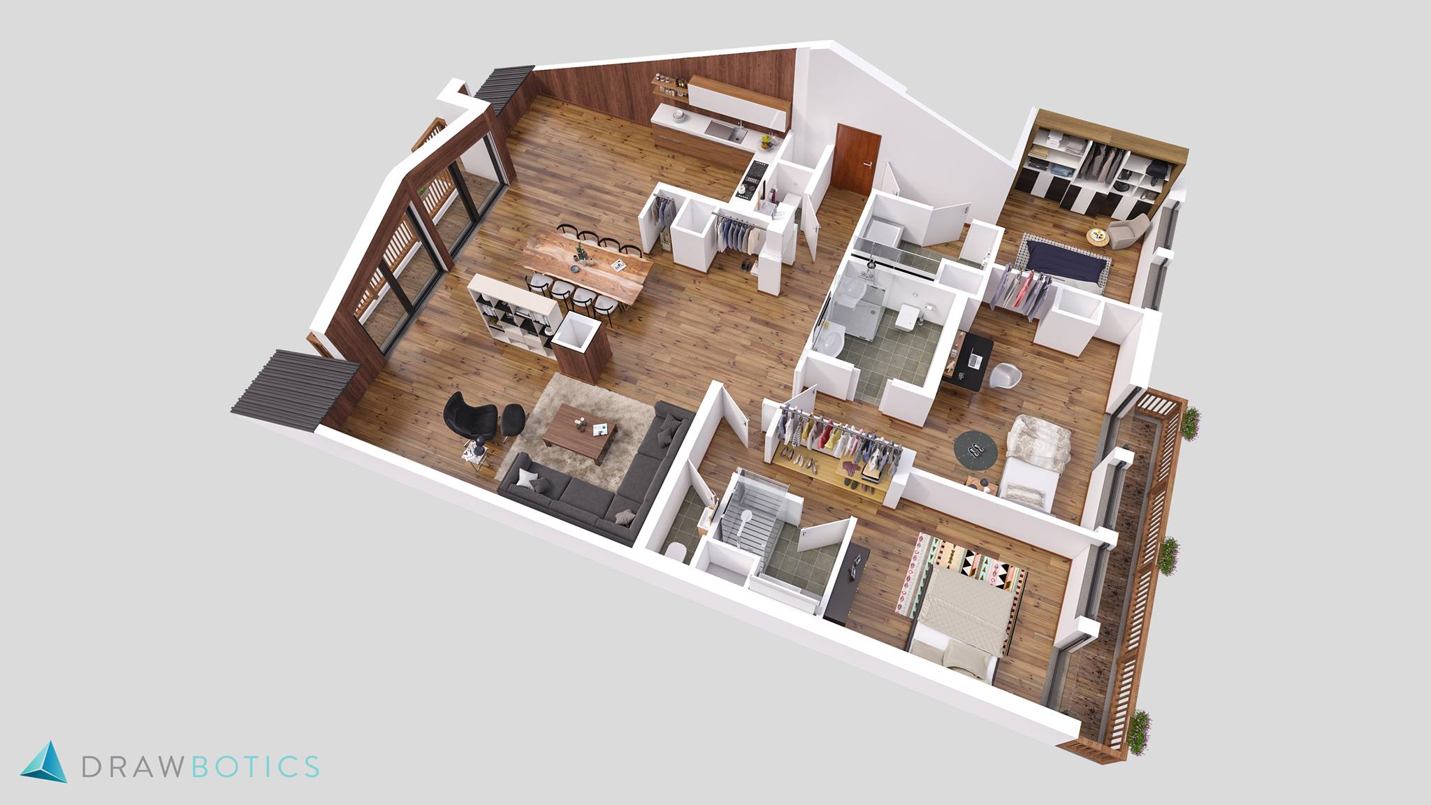 3D Floor Plan by Drawbotics