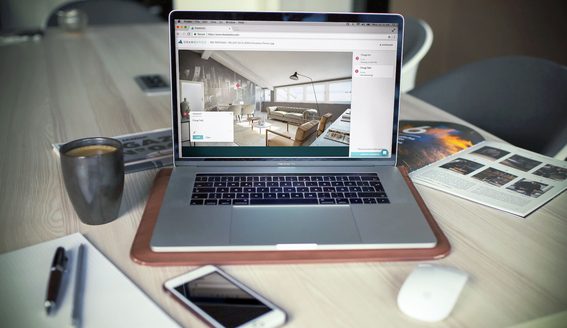 Drawbotics Platform Personal Dashboard for Real Estate Marketing