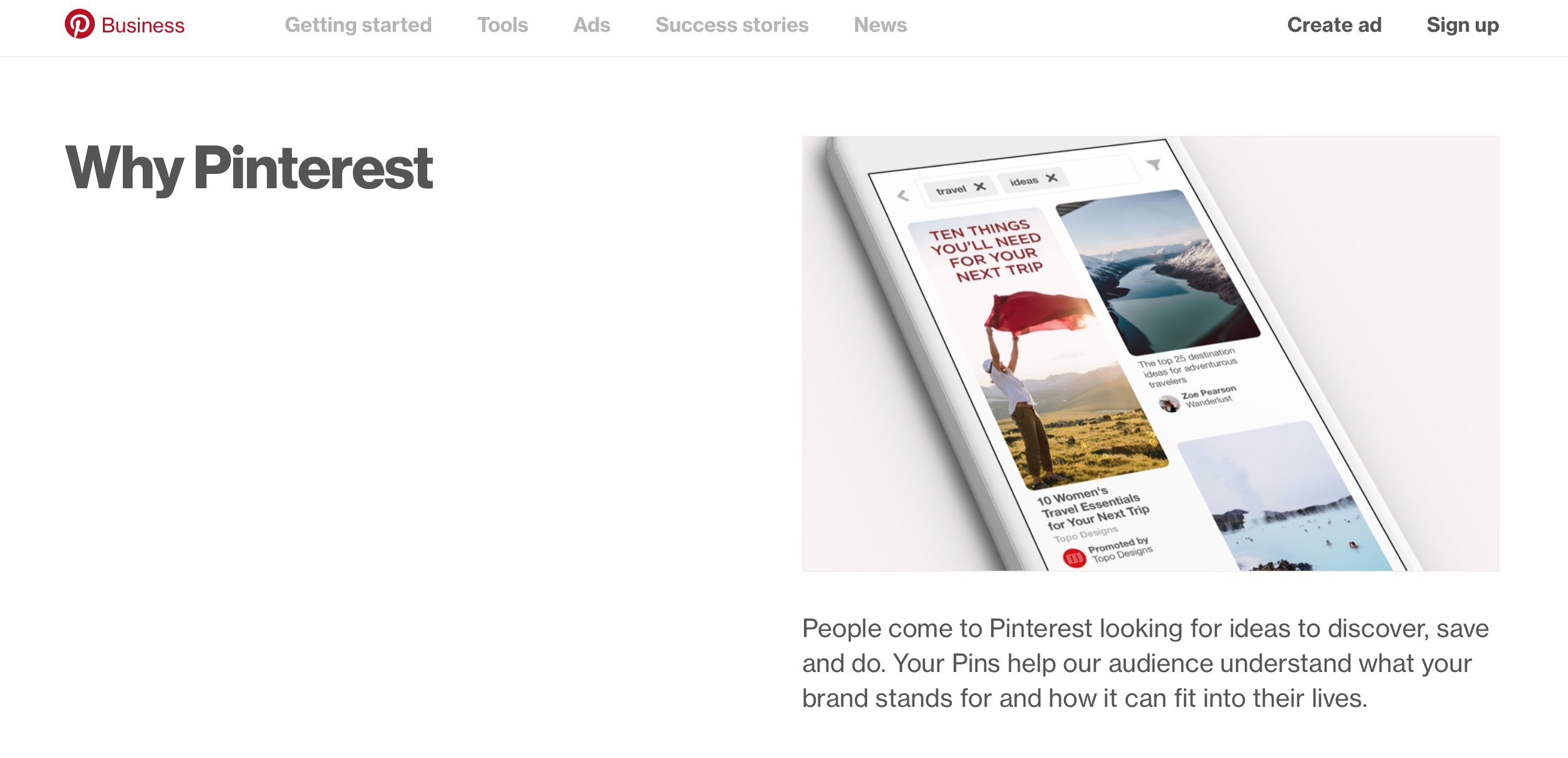 Learn more about Pinterest's Business Features