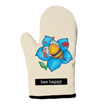 Bee Happy Oven Mitt