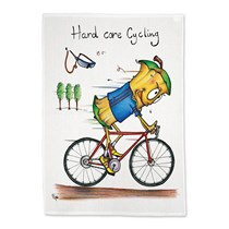 Hard Core Cycling Tea Towel