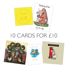 Pack A: 10 Greeting Cards, 5x2 designs