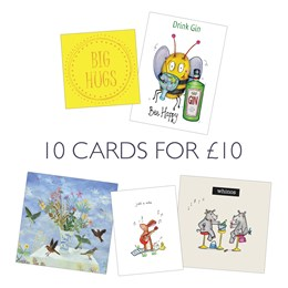 Pack B: 10 Greeting Cards, 5x2 designs