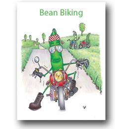 Bean Biking Greeting Card