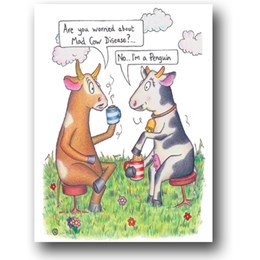 Mad Cow Greeting Card