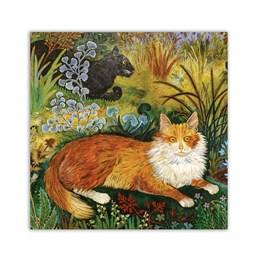 Ruddie Cat Greeting Card