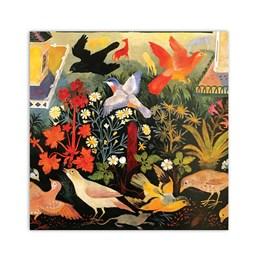 Bird Table Greeting Card