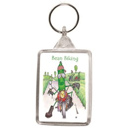 Bean Biking Key Ring