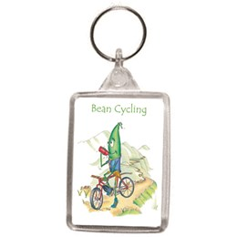 Bean Cycling Key Ring