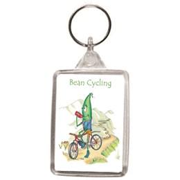 Bean Cycling Key Ring