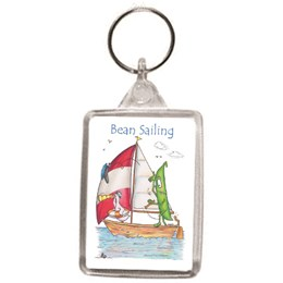 Bean Sailing Key Ring