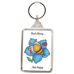 Bee Happy Key Ring