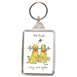 Best Friends Key Ring