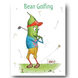 Bean Golfing Greeting Card