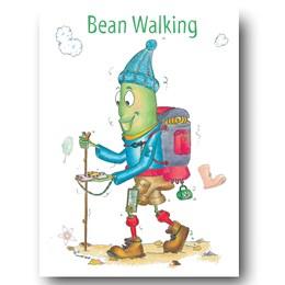 Bean Walking Greeting Card