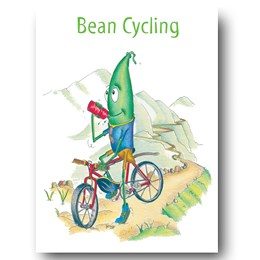 Bean Cycling Greeting Card