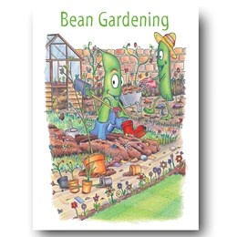 Bean Gardening Greeting Card