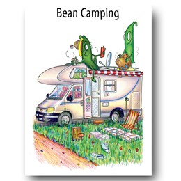 Bean Camping (Van) Greeting Card