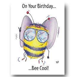 Bee Cool Greeting Card