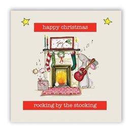 Rocking by the Stocking Christmas Card
