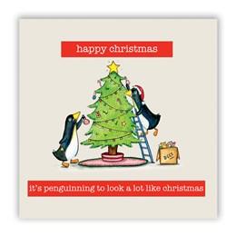 Penguinning Christmas Card