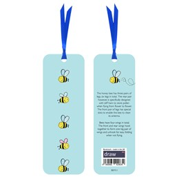 Bee Bookmark Blue
