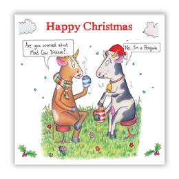 Mad Cow Christmas Card