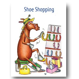 Shoe Shopping Greeting Card